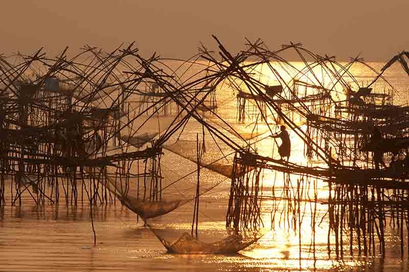 Pêche au lever de soleil