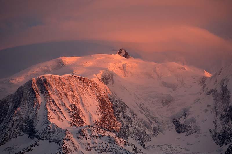 Coucher du soleil sur les Alpes
